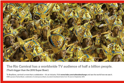 HSBC: promoting its latest cultural sponsorship programme
