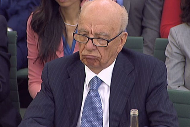 Rupert Murdoch: speaking to MPs at today's select committee