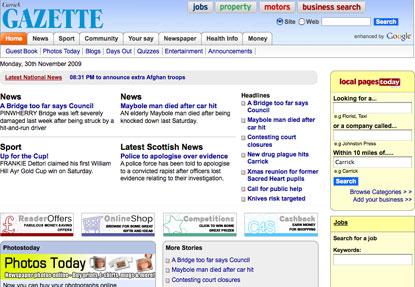 Johnston Press...introducing paywalls on websites