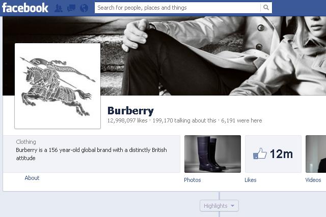 Burberry: the luxury market's Facebook leader