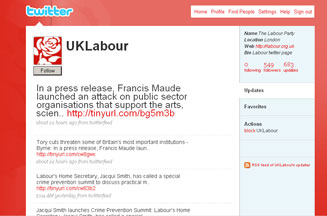 Labour Party links MPs to Twitter