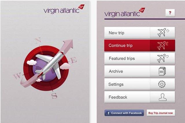virgin atlantic releases trip journal app