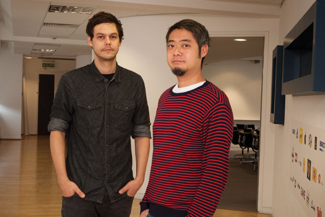 Fabio Abram (left) and Braulio Kuwabara