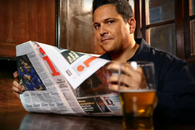The i: Dom Joly stars in the TV campaign by McCann Erickson