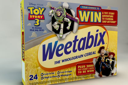 Weetabix: promotion highlights Toy Story 3 tie-up
