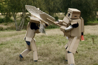 Phones 4u unveils cardboard warrior campaign