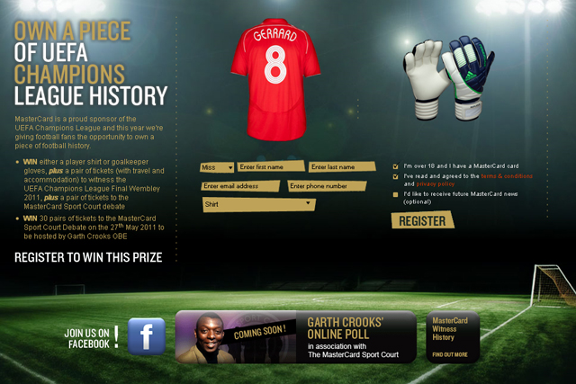 MasterCard: unveils integrated Champions League marketing campaign