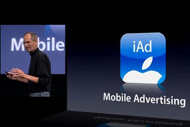 Apple's Steve Jobs introduces iAd earlier this year