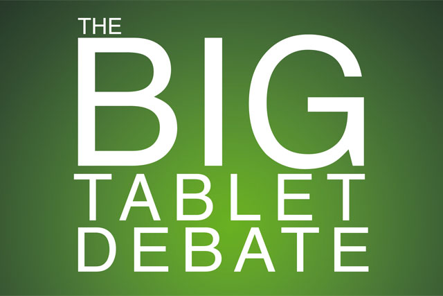The Big Tablet Debate: the event takes place on 1 July at Altitude 360 at the Millbank Tower