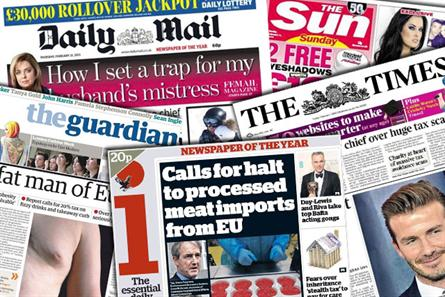 Newspaper ABCs: Print circulations for March 2014