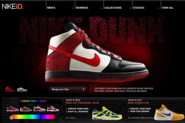 Nike…R/GA built the sport brand's NIKEiD customisation tool