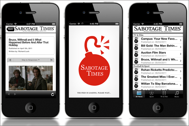Sabotage Times: launches mobile apps