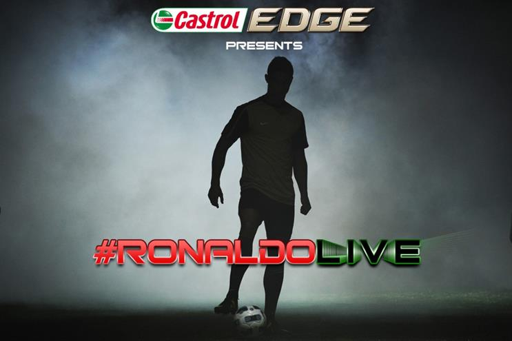 Ronaldo: starring in Castrol Edge documentary