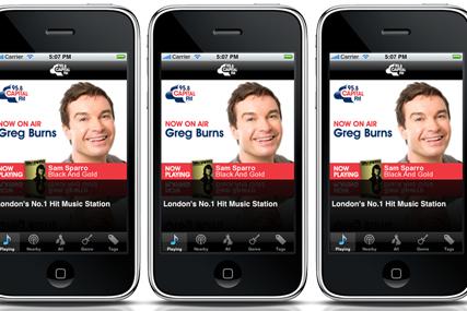 Capital Radio: mobile phone app