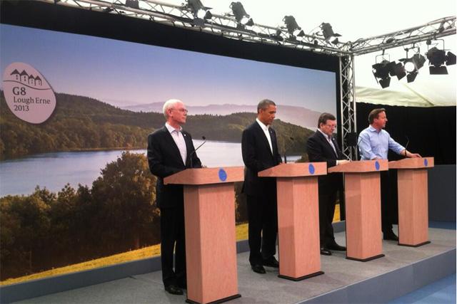 G8 summit at Lough Erne, near Enniskillen in Northern Ireland