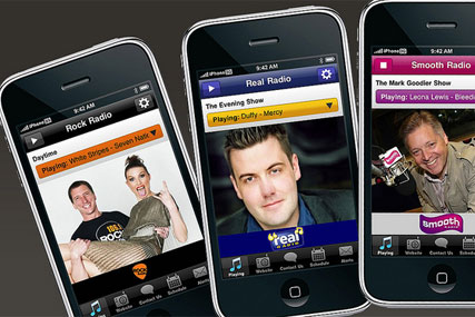 GMG Radio: free iPhone apps for Real, Smooth and Rock Radio brands