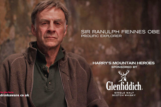 Sir Ranulph Fiennes: stars in the Glenfiddich idents for Harry's Mountain Heroes