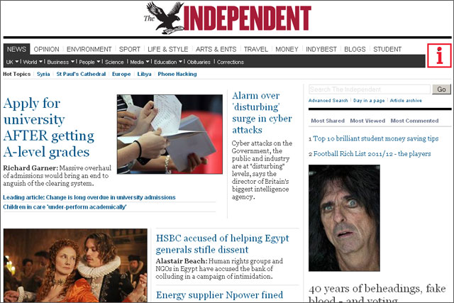 Independent: revamps website