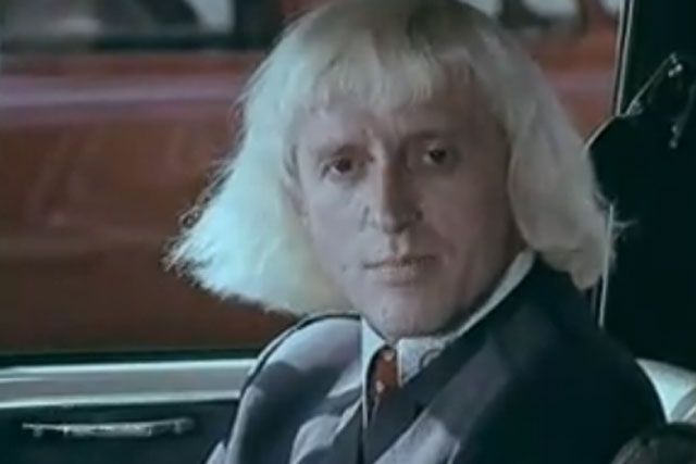 Jimmy Savile: starring in the 1970s 'clunk click' seatbelt campaign