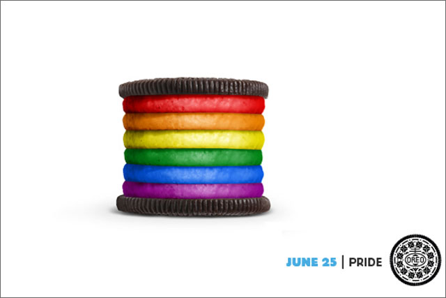 Oreo: topped the list of 20 brands celebrated for their creative work