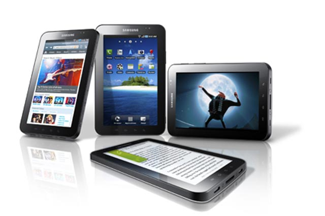 Samsung tablet: has adopted Google's Android operating system
