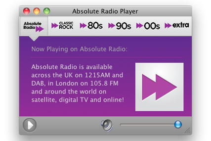 Absolute Radio: debuts on the Mac App Store
