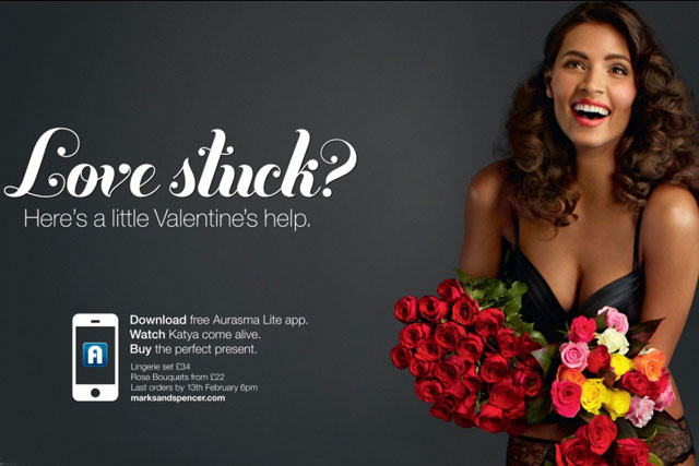 m&s brings valentine's day model to life, Ideas