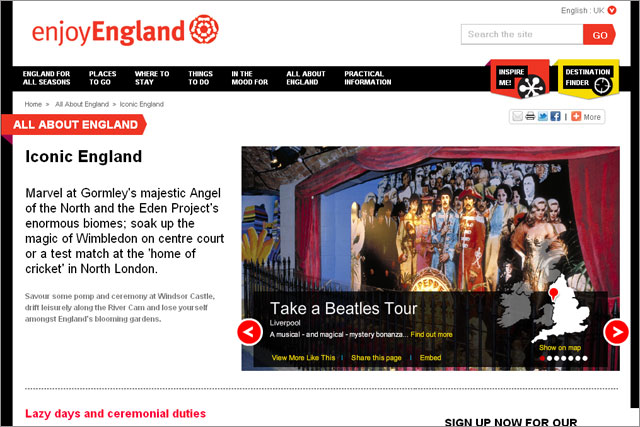 EnjoyEngland: the new site from VisitEngland