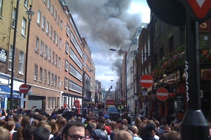 Dean Street fire...Tequila evacuated