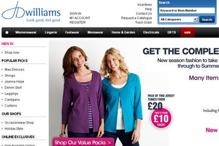 JD Williams: calls ad review