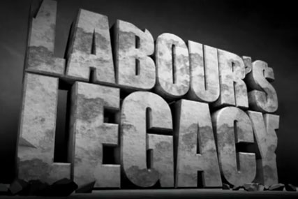 Government campaign: film blames Labour for current spending cuts