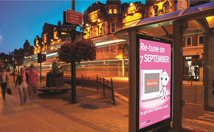 The 'Yorkshire' campaign for Digital UK, planned by MediaCom, scooped the Grand Prize at last year's Outdoor Planning Awards
