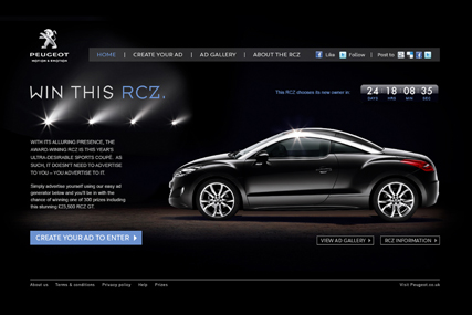 Peugeot: latest digital campaign based around a Facebook page