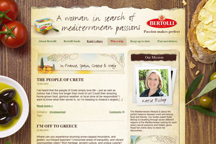 Targeting consumers: the Bertolli Passions blog