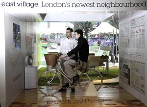 Virtual bike ride in East Village pop-up shop