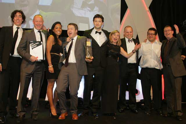 OgilvyOne: the team collects their gong at The DMA Awards