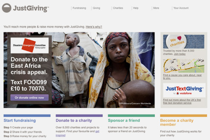 JustGiving is looking for an agency