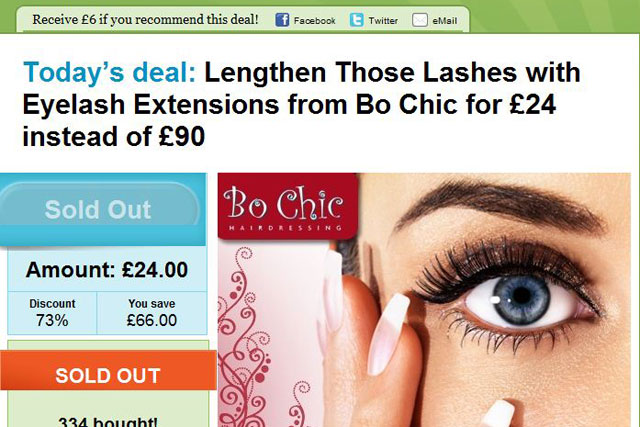 b585881f644 Groupon: ASA rules that eyelash extension offer is misleading