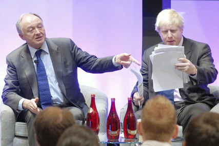 Ken Livingstone and Boris Johnson: the pair will again lock horns in next year's Mayoral election
