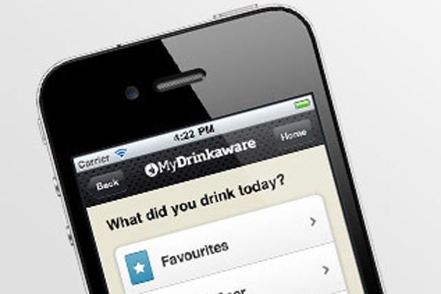 MyDrinkaware app: enables consumers to keep track of their drinking
