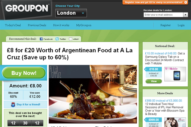 Crowd drives Groupon into BR app chart