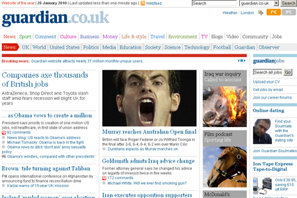 The Guardian: reaches 37 million monthly users