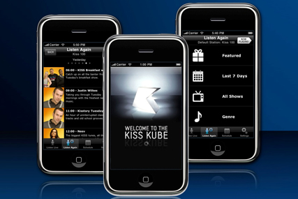 Kiss Kube: iPhone app from Bauer Media