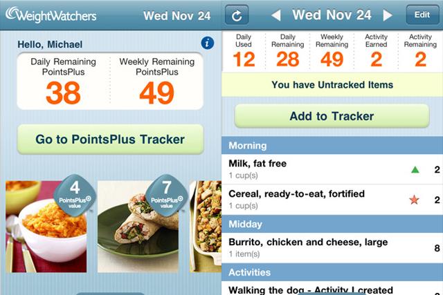 Weight Watchers heads up BR app chart