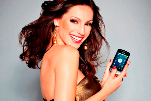 Kelly Brook: the face of LG's Opimus One smartphone