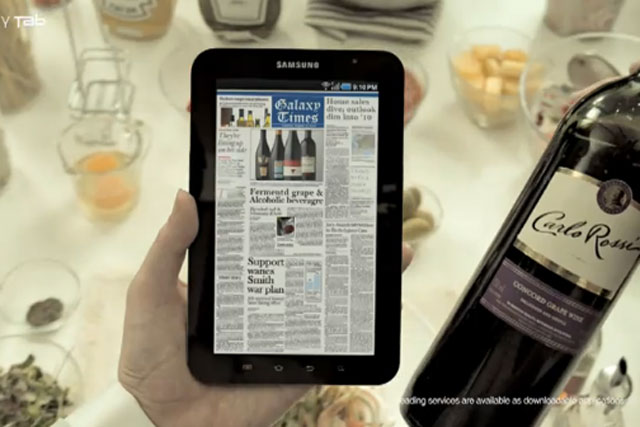 Samsung Galaxy Tab: brand wins Apple battle