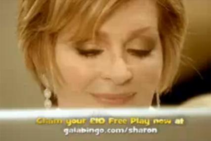 Gala Bingo: Sharon Osbourne stars in 2006 TV campaign