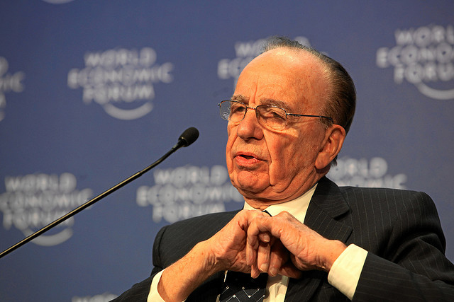 News Corp boss Rupert Murdoch at last year's World Economic Forum (Image: World Economic Forum swiss-image.ch/Photo by Monika Flueckiger)
