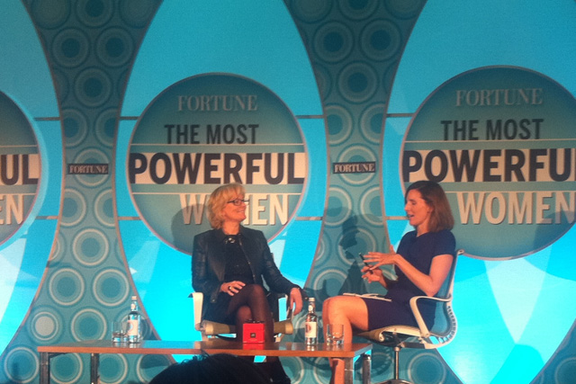 Jo Malone (right) talks about creating a new brand