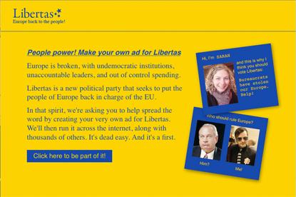 Libertas... first campaign through new ThisAd platform